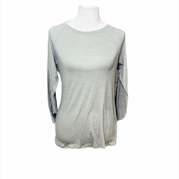 PATAGONIA Silver Metallic Soft Under Tee